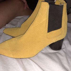 Zara Yellow Booties